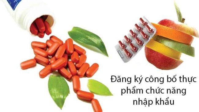 dịch vụ công bố thực phẩm chức năng nhập khẩu