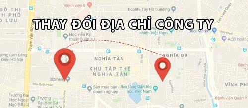 thay đổi địa chỉ công ty