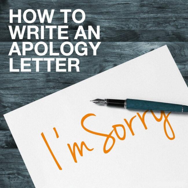 thư xin lỗi khách hàng